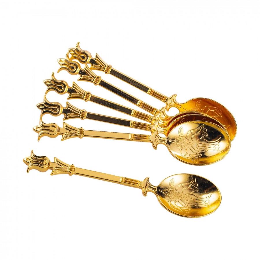 Ложки медные кофейные золотистые 6 штук