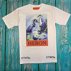 Белая футболка Heron Preston • стильная с бирками