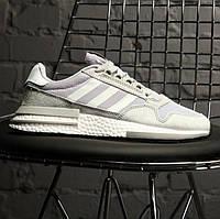 "Мужские кроссовки Adidas ZX 500 RM ""Cloud White"" серые (Реплика ААА+)"
