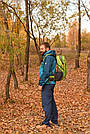 Рюкзак спортивный 40 литров New Outlander для путешествий; городской, велорюкзак- зеленый(AV 1221), фото 3
