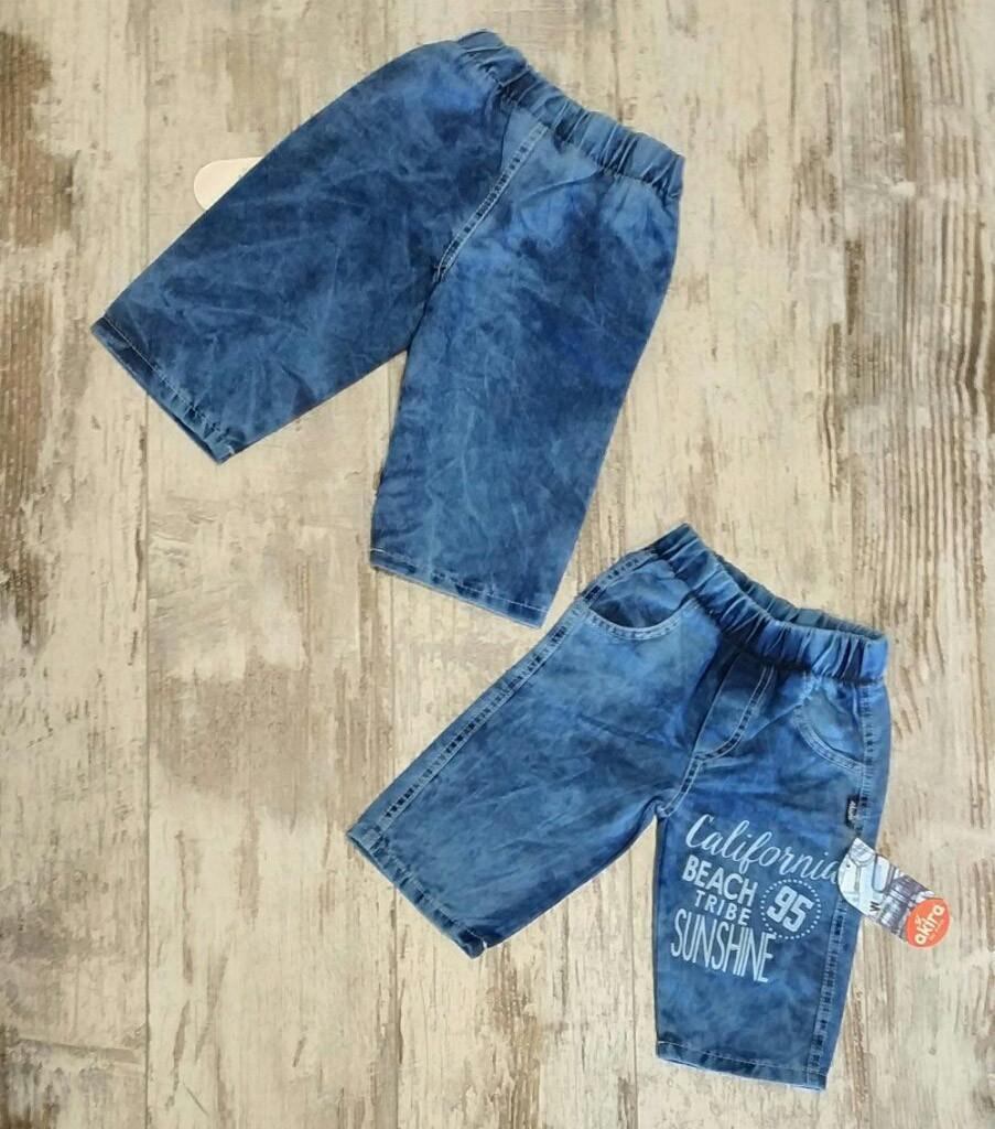 Детские джинсовые шорты для мальчиков 5-8 лет