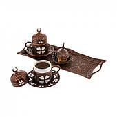 Набор чашек для кофе  Бронзовый цветок Sena на 2 персоны
