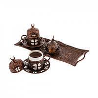 Набор чашек для кофе  Бронзовый цветок Sena на 2 персоны, фото 1