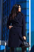 Кашемировое зимнее пальто женское р 46,  X-woyz  PL-8810-2