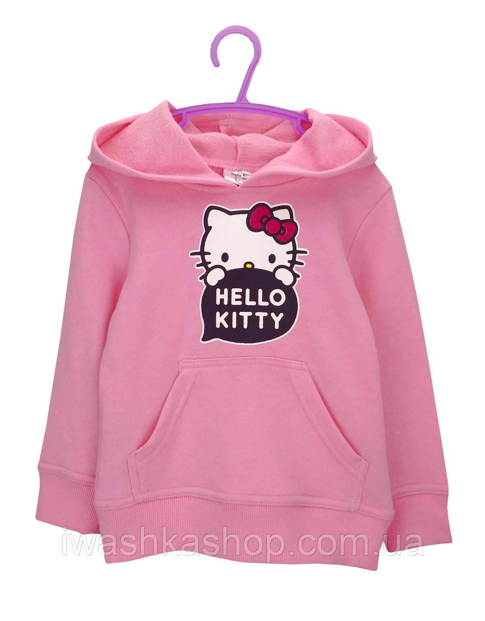 Розовая худи двунитка с Китти на девочек 3 лет, р. 98, Sunrio / Hello Kitty