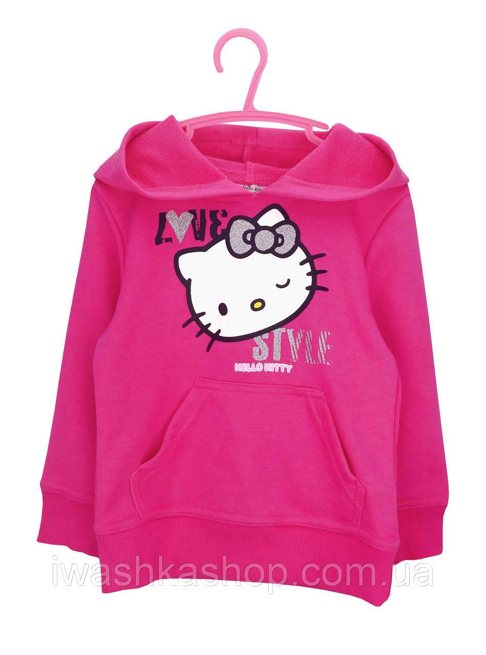 Малиновая худи двунитка с Китти на девочек 8 лет, р. 128, Sunrio / Hello Kitty