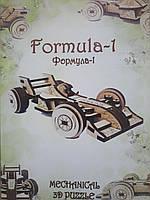 Деревянный конструктор 3D пазл Формула-1