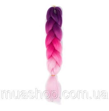 Канекалон Омбре (фиолетовый/яркорозовый/бледнорозовый) 65*130 см