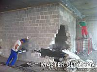 Демонтаж Харьков стяжка штукатурка плитка резка проемов вывоз мусора