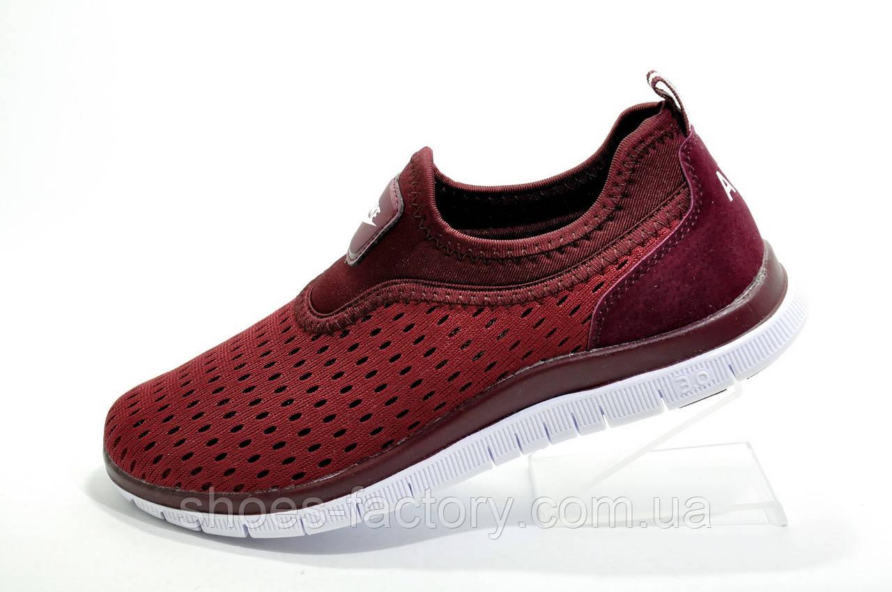 Кроссовки женские в стиле Nike Free Run 3.0, Бордо (Летние)