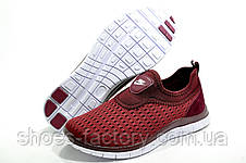 Кроссовки женские в стиле Nike Free Run 3.0, Бордо (Летние), фото 3