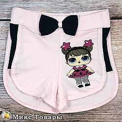 Коротенькие шорты на лето для девочки Размеры: 92,98,104,110 см (8521-1)