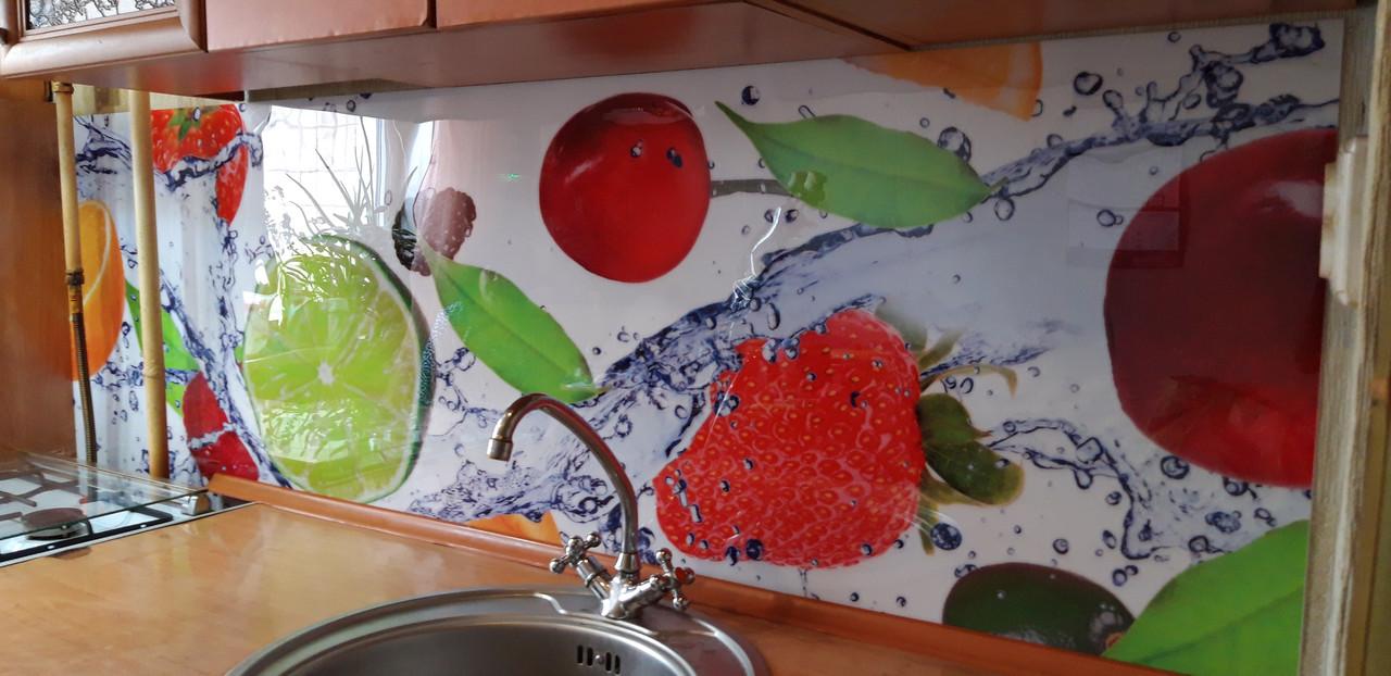 Кухонный фартук в рулонах, самофиксирующися на скотч 3М, заменитель стекла 62х205 см (под заказ любой размер)