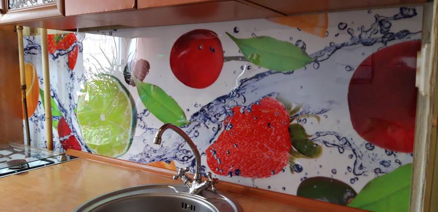 Кухонный фартук в рулонах, самофиксирующися на скотч 3М, заменитель стекла 62х205 см (под заказ любой размер), фото 2