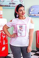 Женские футболки большой размер,футболки батальные женские ,блузки большие размеры,майки женские большие