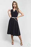 Летнее платье Иванна черный\мелк бел горох, фото 1