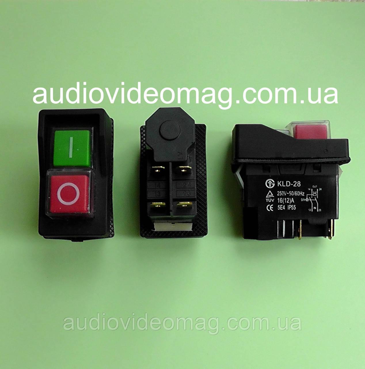 Пускова кнопка KLD-28A (магнітний пускач) для бетономішалки, 4 контакту