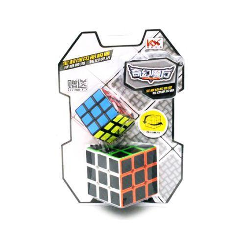 Кубик рубика YuanGuang, набір 2 в 1, Кубик 3х3 та 3х3 брелок, з підставкою