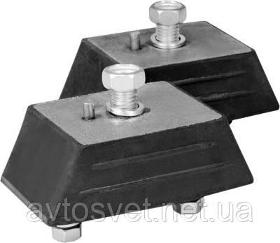 Ремкомплект опори двигуна ВОЛГА,ГАЗЕЛЬ,СОБОЛЬ передній (подушки з кріпленням) (виробник ГАЗ) 3102-1001804