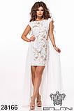 Ошатне жіноче плаття Вишивка на сітці Декороване намистом Розмір 42 44 46 В наявності 3 кольори, фото 2