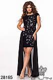 Ошатне жіноче плаття Вишивка на сітці Декороване намистом Розмір 42 44 46 В наявності 3 кольори, фото 6