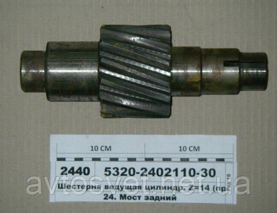 Шестерня ведущая цилиндрическая Z=14 (производитель КамАЗ) арт. 5320-2402110-30, фото 2