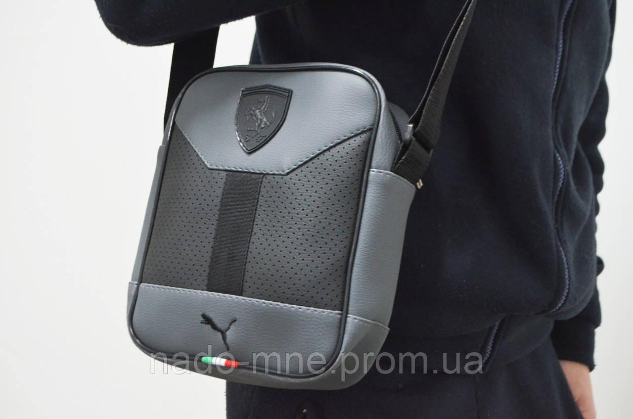 1b407d72fbb2 Мужская барсетка PUMA Ferrari, сумка через плечо, мессенджер, 4 цвета
