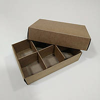 Коробка для конфет с ложементом крафт