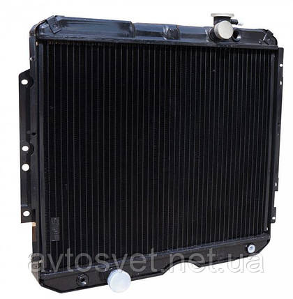 Радіатор водяного охолодження ГАЗ-3307 з дв. ММЗ Д245.7 , ГАЗ-3309 з дв. ММЗ Євро-3 3-х рядний (ШААЗ), фото 2