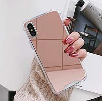Розовый зеркальный чехол для iphone x, iphone 6/6s iphone 7+/8+
