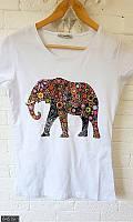 Белая футболка ,модные женские майки ,белая футболка с рисунком ,женская футболка ,серая футболка