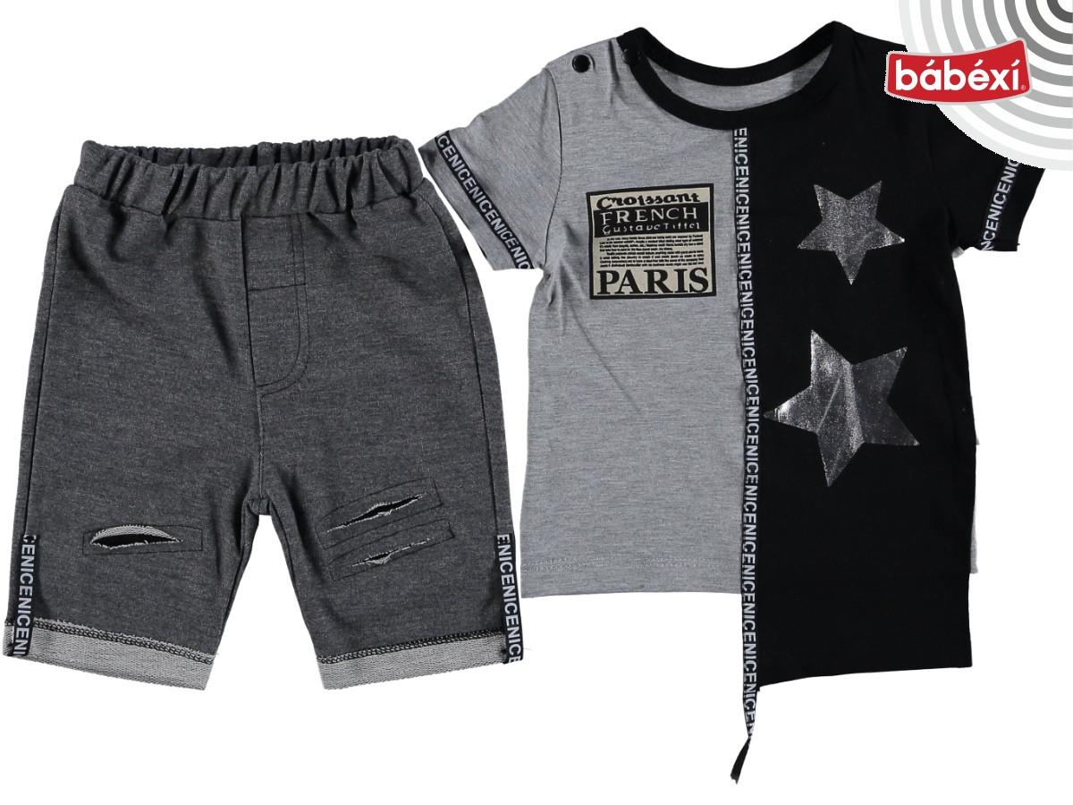 """Модный комплект костюм на мальчика """"Paris"""" (серый)"""