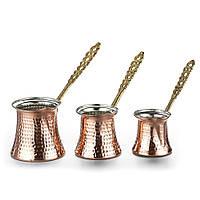 Турки (джезвы) для кофе Sena 3 шт. медные 100 мл, фото 1