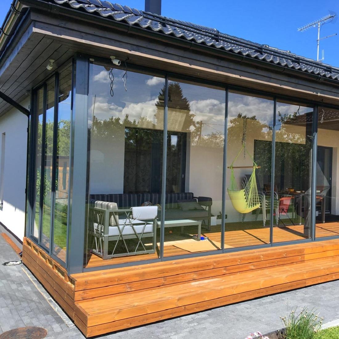 Холодные алюминиевые раздвижные окна для террасы