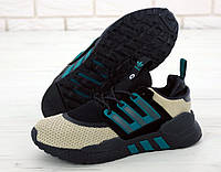 """Кроссовки мужские Adidas Packer EQT 91/18 """"Черные с бежевым"""" адидас эквипмент р. 41-45, фото 1"""