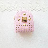 Рюкзак РОЗОВЫЙ с золотой фурнитурой 9 см, фото 1