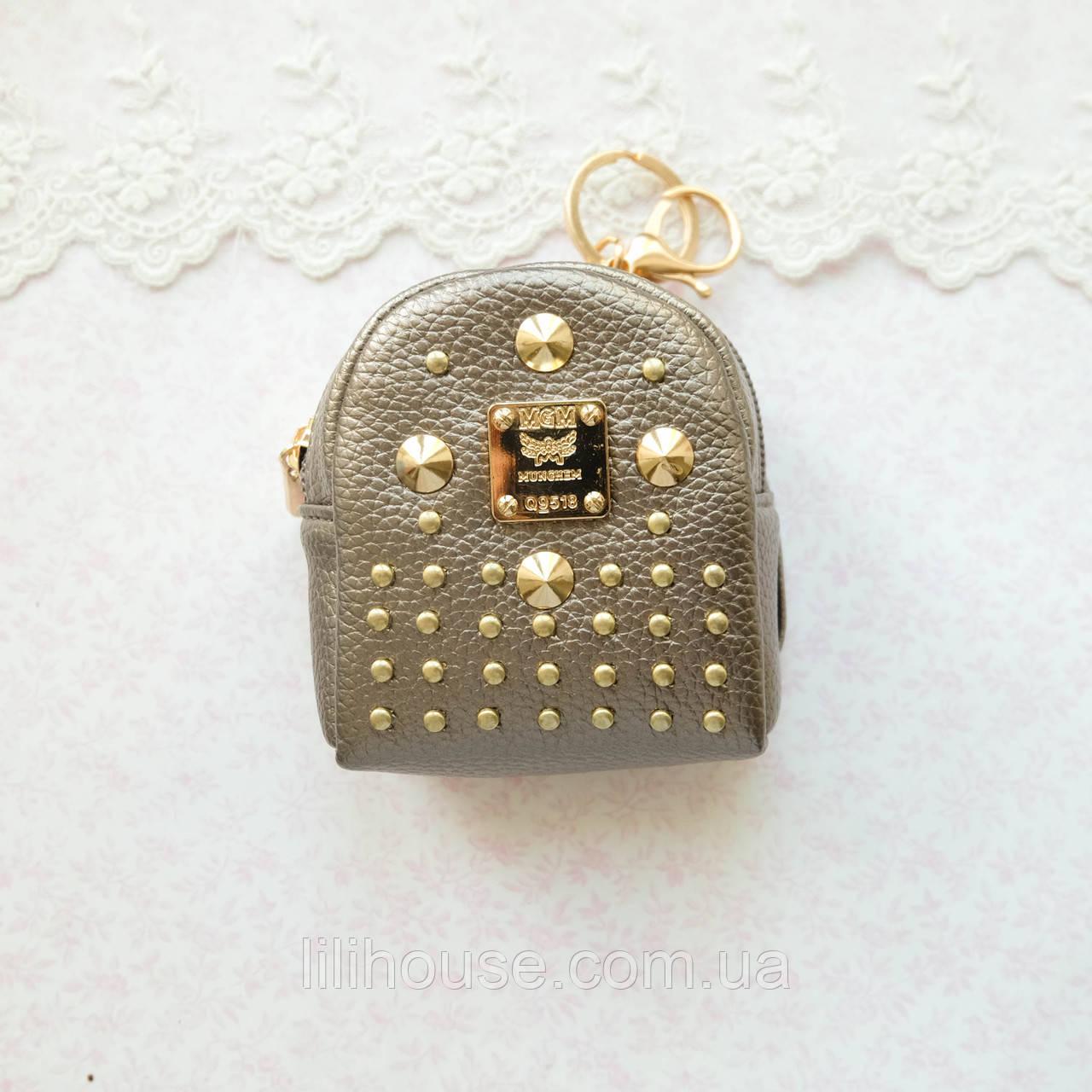 Рюкзак БРОНЗА МЕТАЛЛИК с золотой фурнитурой 9 см