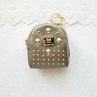 Рюкзак БРОНЗА МЕТАЛЛИК с золотой фурнитурой 9 см, фото 1