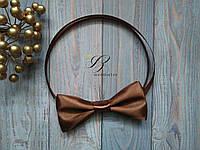 Шоколадная бабочка галстук атласная