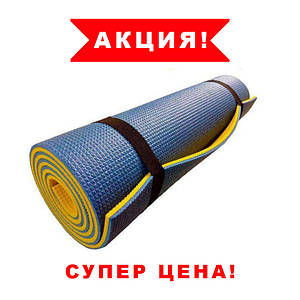 Каремат. Коврик Фитнес для спорта. 1800х600х9мм Коврик для йоги. Туристический коврик.
