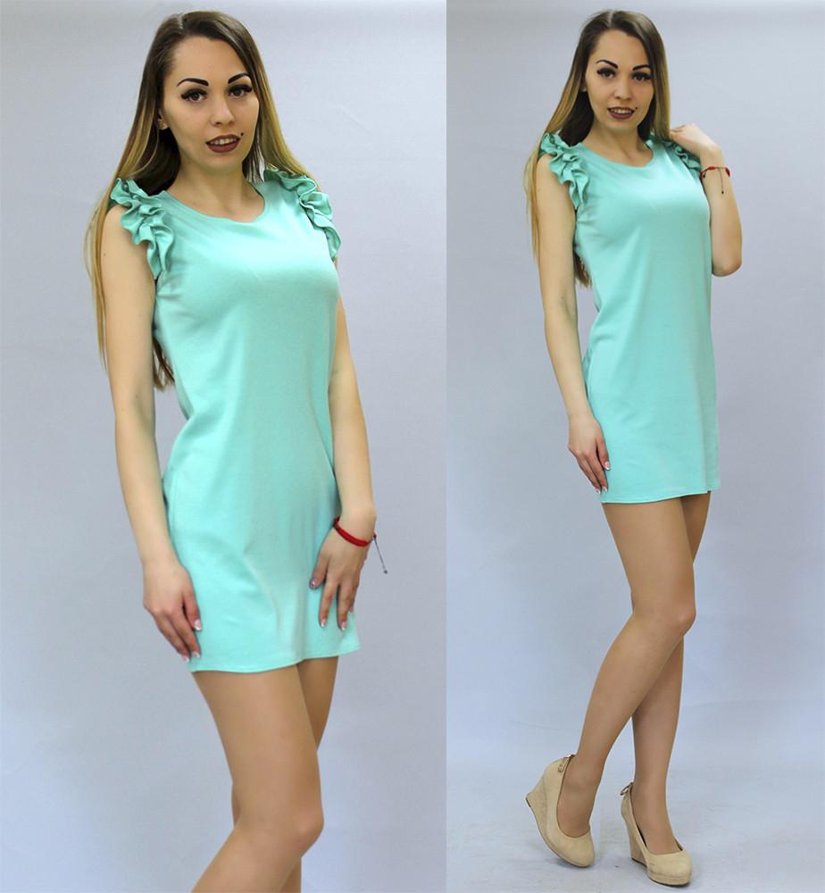 7cb6bbbb33d Купить Летнее платье с рюшами на плечах в Николаеве от компании ...