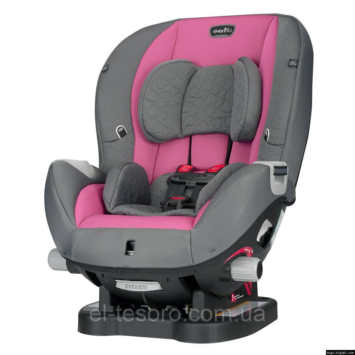 Evenflo® автокрісло Triumph колір - Kora pink (група від 2,2 до 29,4 кг)