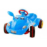 Детская педальная машина Молния  синяя