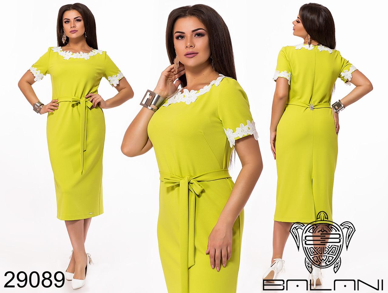 Элегантное женское платье с отделкой из кружева с 44 по 58
