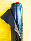 Пленка черная. 150 мкм плотность. 3м.х.50м рулон. Полиэтилен (строительная, для мульчирования), фото 3