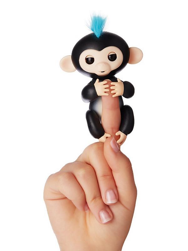 Интерактивная игрушка обезьянка Fingerlings Monkey (Черная)