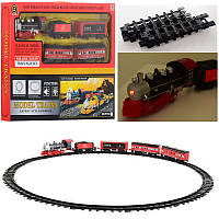 Железная дорога, локомотив 18см, вагон 4 шт, звук, свет, PYC21
