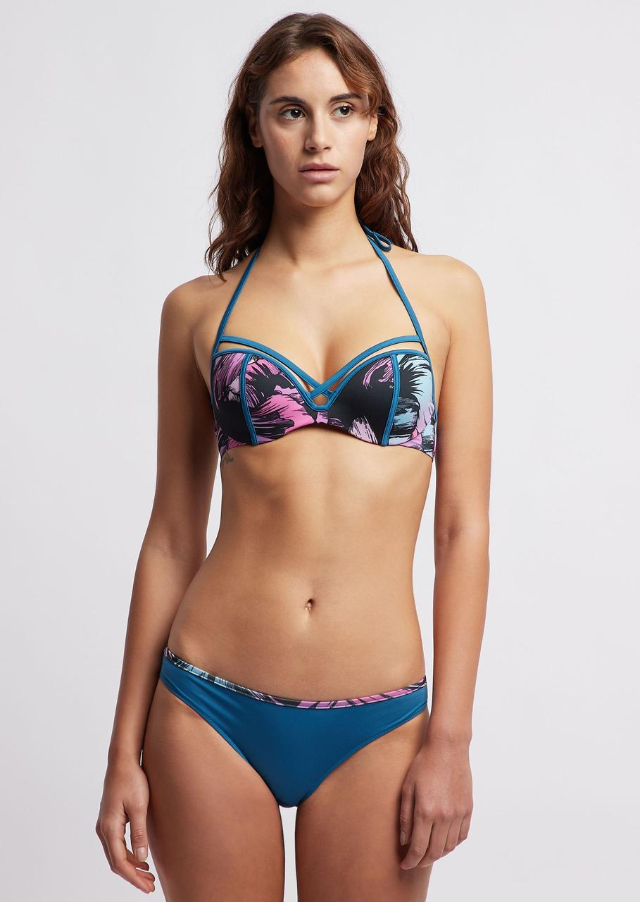 Купальник Bikini swimsuit with tropical flower Emporio Armani EA7 оригинал