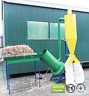 Измельчитель зерна 380 В, 11 кВт (зернодробилка, дку, дробилка пшеницы) c циклоном