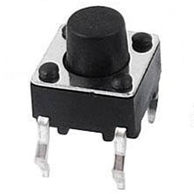 Кнопка тактовая 6х6х5мм 4-х контактная, фото 2